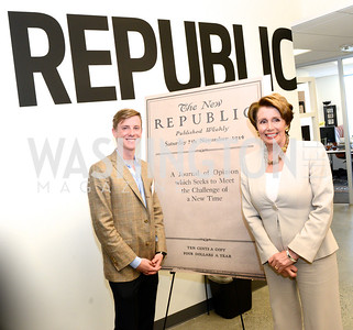 Chris Hughes, Nancy Pelosi, The New Republic Office Opening Party.  Friday April 26. Photo by Ben Droz.