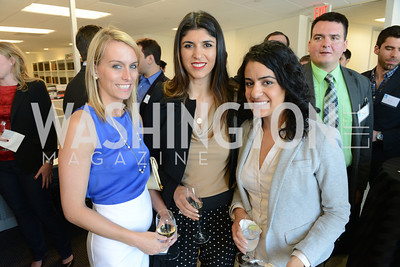 Amy Harder, Lara Eurdolian, Elahe Izadi, The New Republic Office Opening Party.  Friday April 26. Photo by Ben Droz.