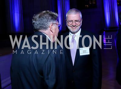 "John Sununu, Joshua Bolten. Photo by Tony Powell. ""The Presidents' Gatekeepers"" Screening. Mellon Auditorium. September 10, 2013"