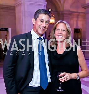 "Brad and Debbie Dockser. Photo by Tony Powell. ""The Presidents' Gatekeepers"" Screening. Mellon Auditorium. September 10, 2013"