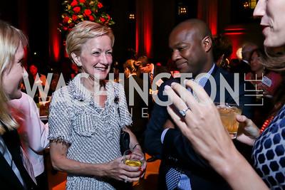"Ann Stock, Ebs Burnough. Photo by Tony Powell. ""The Presidents' Gatekeepers"" Screening. Mellon Auditorium. September 10, 2013"