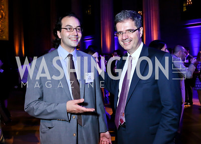 "'Gatekeepers' director Jules Naudet, French Amb. Francois Delattre. Photo by Tony Powell. ""The Presidents' Gatekeepers"" Screening. Mellon Auditorium. September 10, 2013"