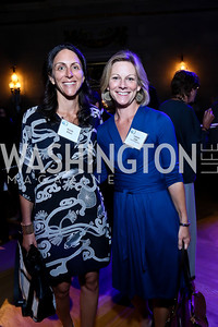 "Nicole Elkon, Gretchen Eisele. Photo by Tony Powell. ""The Presidents' Gatekeepers"" Screening. Mellon Auditorium. September 10, 2013"