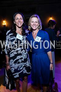 "Nicole Elkon, Gretchen Eisele. Photo by Tony Powell. ""The Presidents' Gatekeepers"" Screening. Mellon Auditorium. September 10, 2013"