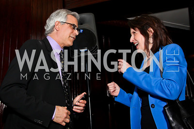David Corn, The Nation editor and publisher Katrina vanden Heuvel. Photo by Tony Powell. The Tenth Annual Ridenhour Prizes. National Press Club. April 24, 2012