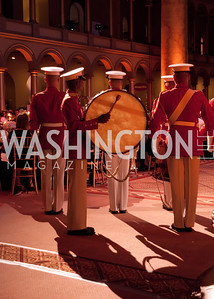 Marine Corps band plays before dinner