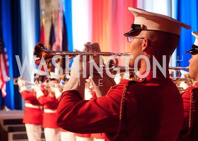 Marine trumpet player