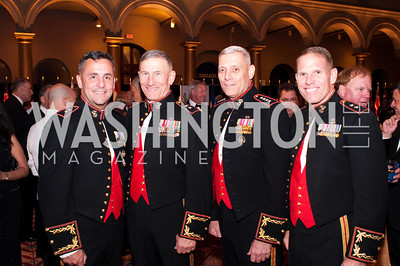 A group of Marine generals in military formalwear pose together