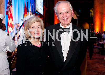 Former senator Kay Bailey Hutchinson poses with a friend