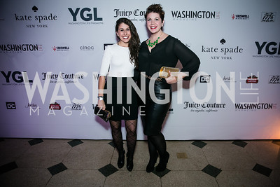 Katie Kirby, Jeannette Tavares. Photo by Alfredo Flores. The Young and The Guest List Party 2013. Carnegie Library. December 11, 2013.