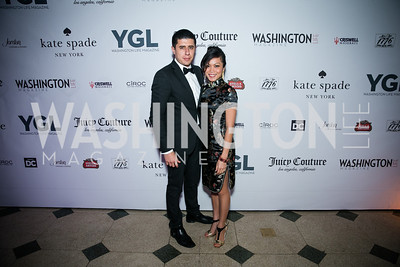 Julian Alcazar, Keo Chea. Photo by Alfredo Flores. The Young and The Guest List Party 2013. Carnegie Library. December 11, 2013.CR2