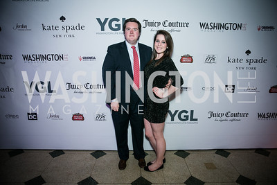John McCarthy, Angela Chiappetta. Photo by Alfredo Flores. The Young and The Guest List Party 2013. Carnegie Library. December 11, 2013.CR2