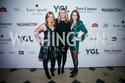 Becca Glover, Kiki Burger, Jackie Kucinich. Photo by Alfredo Flores. The Young and The Guest List Party 2013. Carnegie Library. December 11, 2013.