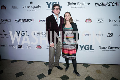 James Henry, Sara Conway. Photo by Alfredo Flores. The Young and The Guest List Party 2013. Carnegie Library. December 11, 2013.CR2