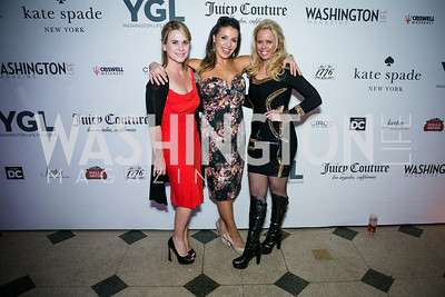 Kimberly Kleine, Lily Talokoub, Kelly Lovallo . Photo by Alfredo Flores. The Young and The Guest List Party 2013. Carnegie Library. December 11, 2013.CR2