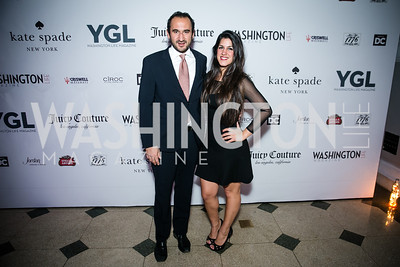 Karim Chrobog, Dannia Hakki. Photo by Alfredo Flores. The Young and The Guest List Party 2013. Carnegie Library. December 11, 2013.