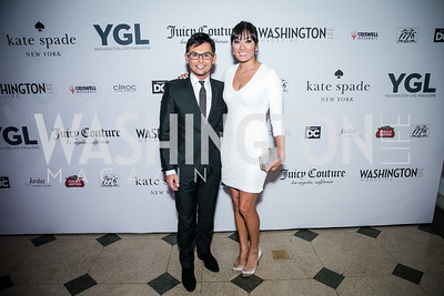 Erwin Gomez, Lani Hay. Photo by Alfredo Flores. The Young and The Guest List Party 2013. Carnegie Library. December 11, 2013.