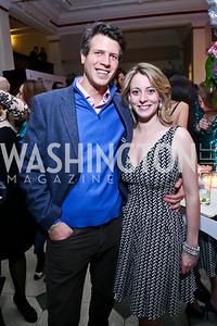 Mark Gillespie, Caroline Dalton. Photo by Tony Powell. 2013 YGL. Carnegie Library. December 11, 2013