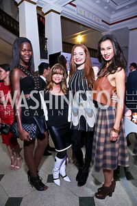 Jacqueline Akoko, Lynda Erkiletian, Catherine Pitcher, Amanda Franklin. Photo by Tony Powell. 2013 YGL. Carnegie Library. December 11, 2013