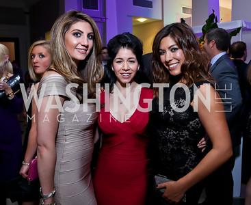 Sheena Tahilramani, Raquel Cabral, Denise Gitsham. Photo by Tony Powell. 2013 YGL. Carnegie Library. December 11, 2013