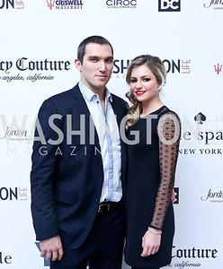 Alexander Ovechkin and fiancee Maria Kirilenko. Photo by Tony Powell. 2013 YGL. Carnegie Library. December 11, 2013