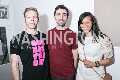 Ben Black, Tim Hammond, Nicole Upano. Photo by Alfredo Flores. Transformer opening reception for Terminators. Transformer . May 11, 2013