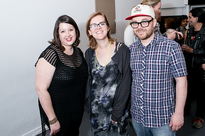 Victoria Reis, Eames Armstrong, Kent Reynolds. Photo by Alfredo Flores. Transformer opening reception for Terminators. Transformer . May 11, 2013