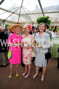 Jane Matz,Pamela Jenkinson,Joan Sterrett,May 22,2013,Tudor Place Spring Garden Party,Kyle Samperton