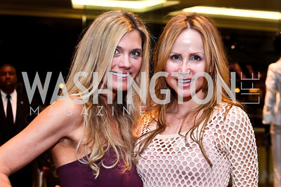 Julie Giuliani, Jocelyn Greenan. Photo by Tony Powell. Versace Shopping Event to benefit CNMC. Tysons Galleria. April 10, 2013