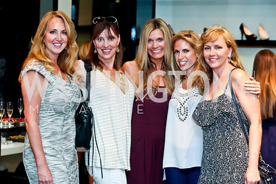 Holidae Hayes, Cindy Thompson, Julie Giuliani, Verna Flemming, Patty Milligan. Photo by Tony Powell. Versace Shopping Event to benefit CNMC. Tysons Galleria. April 10, 2013
