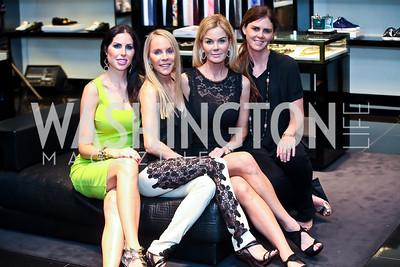 Amy Baier, Cindy Jones, Susanna Quinn, MAe Haney Grennan. Photo by Tony Powell. Versace Shopping Event to benefit CNMC. Tysons Galleria. April 10, 2013