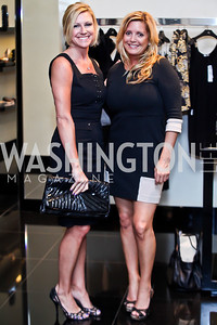 Jessica Gibson, Victoria Michael. Photo by Tony Powell. Versace Shopping Event to benefit CNMC. Tysons Galleria. April 10, 2013