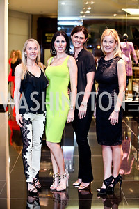 Cindy Jones, Amy Baier, Mae Haney Grennan, Susanna Quinn. Photo by Tony Powell. Versace Shopping Event to benefit CNMC. Tysons Galleria. April 10, 2013