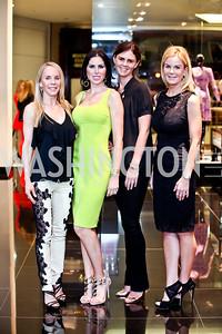 Cindy Jones, Amy Baier, Mae Haney Grennan, Susanna Quinn. Photo by Tony Powell. Versace Shopping Event to benefit CNMC. Tysons Galleria. April 10, 2013