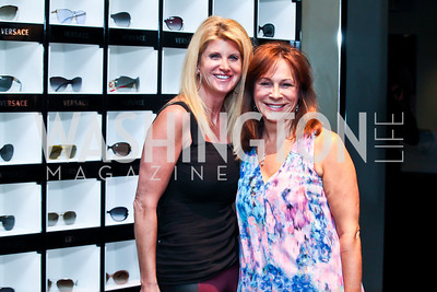 Krysti Hinton, Liz Petkevich. Photo by Tony Powell. Versace Shopping Event to benefit CNMC. Tysons Galleria. April 10, 2013