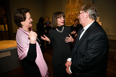Kathy Carmean, Susan Arensberg, E.A. Carmean. Photo by Alfredo Flores. Viewing and Reception in honor of Heaven and Earth Art of Byzantium from Greek Collections. National Gallery of Art