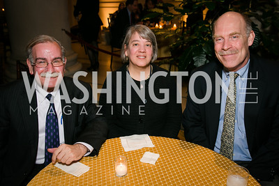 Neal Turtell, Michelle Fondas, Robert Wilson. Photo by Alfredo Flores. Viewing and Reception in honor of Heaven and Earth  Art of Byzantium from Greek Collections. National Gallery of Art. December 3, 2013.