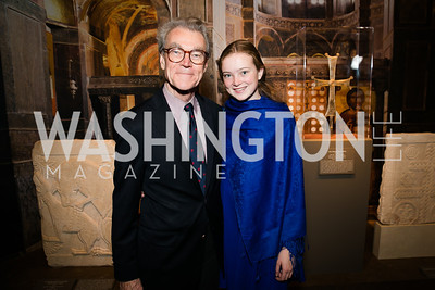 Andrew Robison, May Robison. Photo by Alfredo Flores. Viewing and Reception in honor of Heaven and Earth  Art of Byzantium from Greek Collections. National Gallery of Art. December 3, 2013.