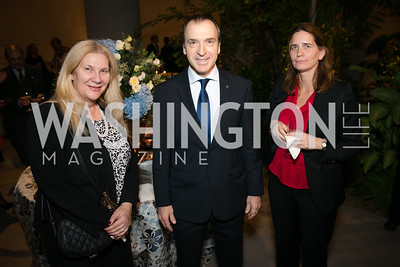 Mimi Aruanipi, Amb. Christos Panagopoulos, Sophia Philippidou. Photo by Alfredo Flores. Viewing and Reception in honor of Heaven and Earth  Art of Byzantium from Greek Collections. National Gallery of Art. December 3, 2013.