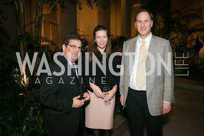 Rep. Gus Bilirakis, Katerina Sokou, Charles Calomiris. Photo by Alfredo Flores. Viewing and Reception in honor of Heaven and Earth  Art of Byzantium from Greek Collections. National Gallery of Art. December 3, 2013.