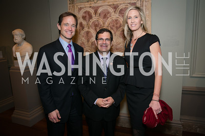 Mike Manatos, Rep. Gus Bilirakis, Laura Evans. Photo by Alfredo Flores. Viewing and Reception in honor of Heaven and Earth  Art of Byzantium from Greek Collections. National Gallery of Art. December 3, 2013.