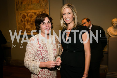 Cristina DelSesto, Laura Evans. Photo by Alfredo Flores. Viewing and Reception in honor of Heaven and Earth  Art of Byzantium from Greek Collections. National Gallery of Art. December 3, 2013.