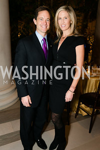 Mike Manatos, Laura Evans. Photo by Alfredo Flores. Viewing and Reception in honor of Heaven and Earth  Art of Byzantium from Greek Collections. National Gallery of Art. December 3, 2013.