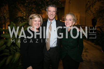 Carol Kelley, Bill Walton, Sarah Walton. Photo by Alfredo Flores. Viewing and Reception in honor of Heaven and Earth  Art of Byzantium from Greek Collections. National Gallery of Art. December 3, 2013.