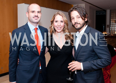 Mauricio Katz, Kristel Mucino and Mexican actor Diego Luna