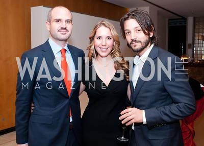 Mauricio Katz, Kristel Mucino and Mexican actor Diego Luna