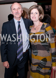 WOLA program director Geoff Thale and Cathy Feingold