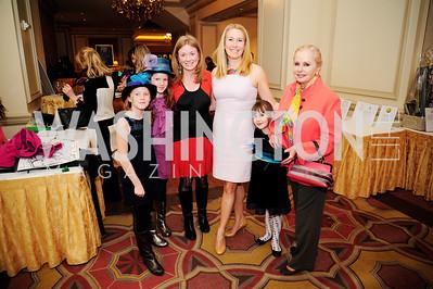 Jill White,Renee Esfandiary Crupi,Judy Esfandiary,March 3 ,2013  Wacky and Whimsical Tea to Benefit THEARC,Kyle Samperton