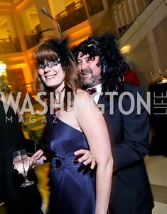 "Joy Robertson, Tom White. Photo by Tony Powell. Jete Society's ""Unmask the Night."" Homer Building. October 26, 2013"