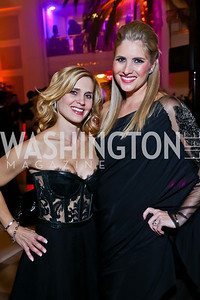 """Co-Chairs Stacey Lubar, Ashley Taylor Bronczek. Photo by Tony Powell. Jete Society's """"Unmask the Night."""" Homer Building. October 26, 2013"""